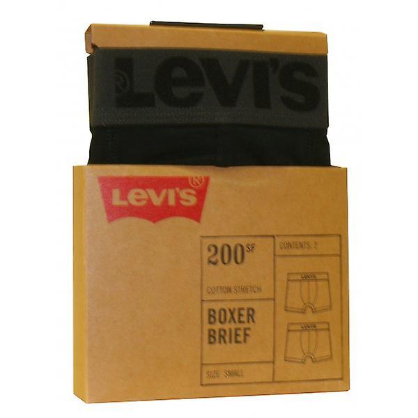 Levi's 2-Pack 200sf Boxer Briefs, Jet Black