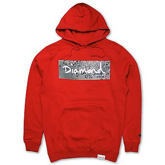 Diamond Supply Co Scatter Box Logo Hoodie Red