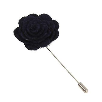 Snobbop revers-corsage flower pin brooch pin Navy Blue
