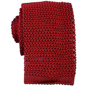 KJ Beckett Knitted Silk Tie - Red