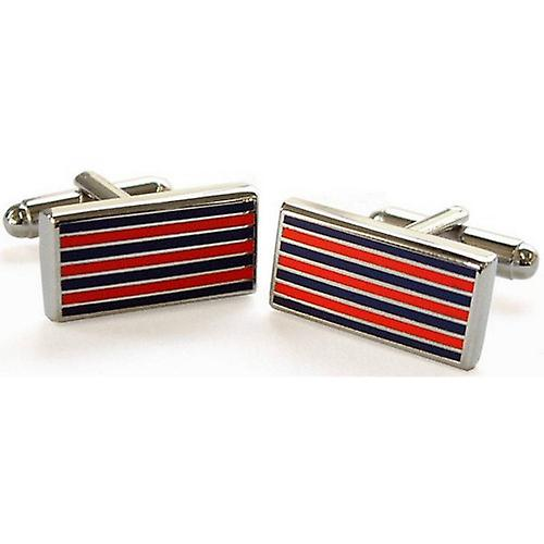 Tyler and Tyler Pinstripe Cufflinks - Red