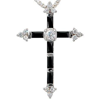Pendant cross 925 sterling silver with cubic zirconia cross pendant silver cross