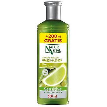 Naturaleza y Vida Champu Sensitive Cabello graso 300 + 200 ml