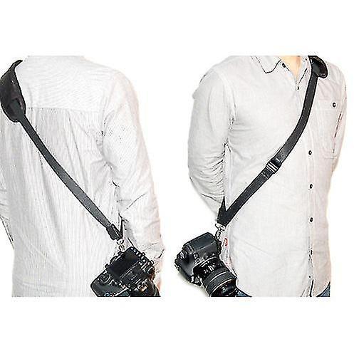 JJC Quick Release Professional Shoulder Sling Strap with storage pocket. Fits to cameras tripod socket with ABS Plate. For Nikon D40, D40x, D50, D60, D70, D70s, D80, D90, D100, D200, D300, D300s, D600, D700, D800, D3000, D3100, D3200, D5000, D5100, D7000 and more