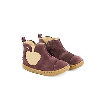 Shoo Pom Bouba Apple Girls Plum Suede Ankle Boots