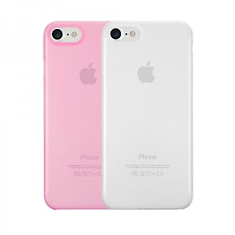 Ozaki OC720CP O! Coat 0.3 jelly cover cover set of 2 for Apple iPhone 8 / 7 transparent pink
