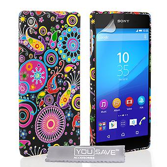 Yousave Accessories Sony Xperia Z3 Plus Jellyfish Silicone Gel Case