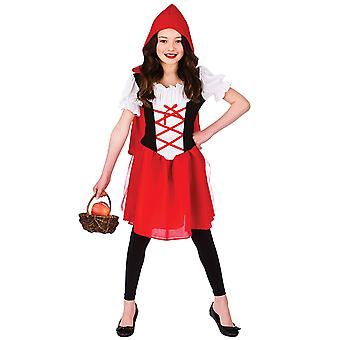 Little Red Riding Hood Childrens Fancy Dress kostume kjole med hætte Cape