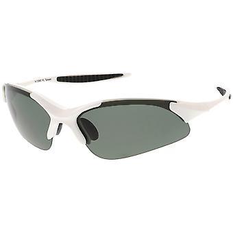 Sport occhiali da sole di TR-90 Semi-Rimless Wrap sottili aste lente polarizzata 68 mm