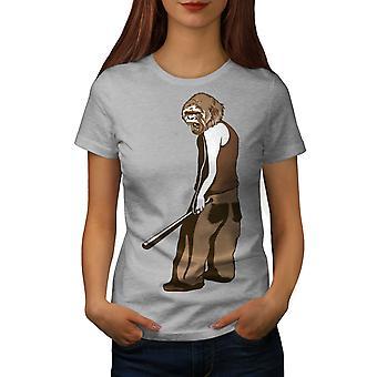 Monkey Man Women GreyT-shirt | Wellcoda