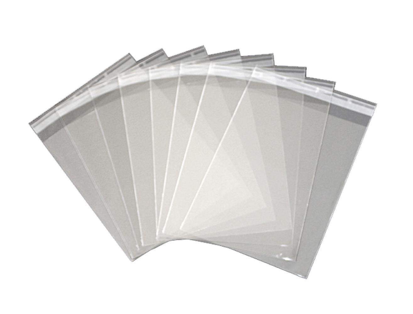 100 x Peel & Seal Clear Cello Cellophane Bags Wallets for Cards, Photos, Inkless Kits