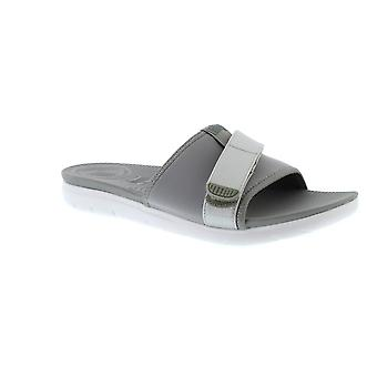 FitFlop Neoflex Slide - Soft Grey/Silver (Man-Made) Womens Sandals