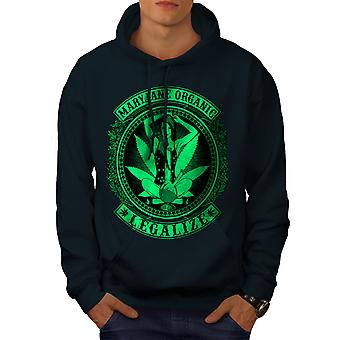 Organic Legalize Men NavyHoodie | Wellcoda