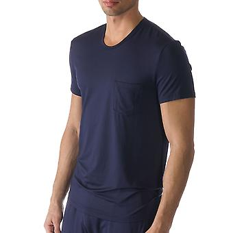 Mey 65630-668 Men's Jefferson Blue Solid Colour Pajama Pyjama Top
