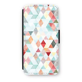 iPhone 7 フリップ ケース - 色三角形パステル