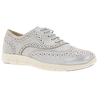 CAPRICE leather Budapest ladies Silver metallic
