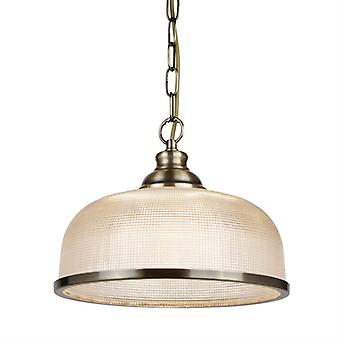 Bistro Ii Antique Brass And Glass Single Pendant - Searchlight 1682ab