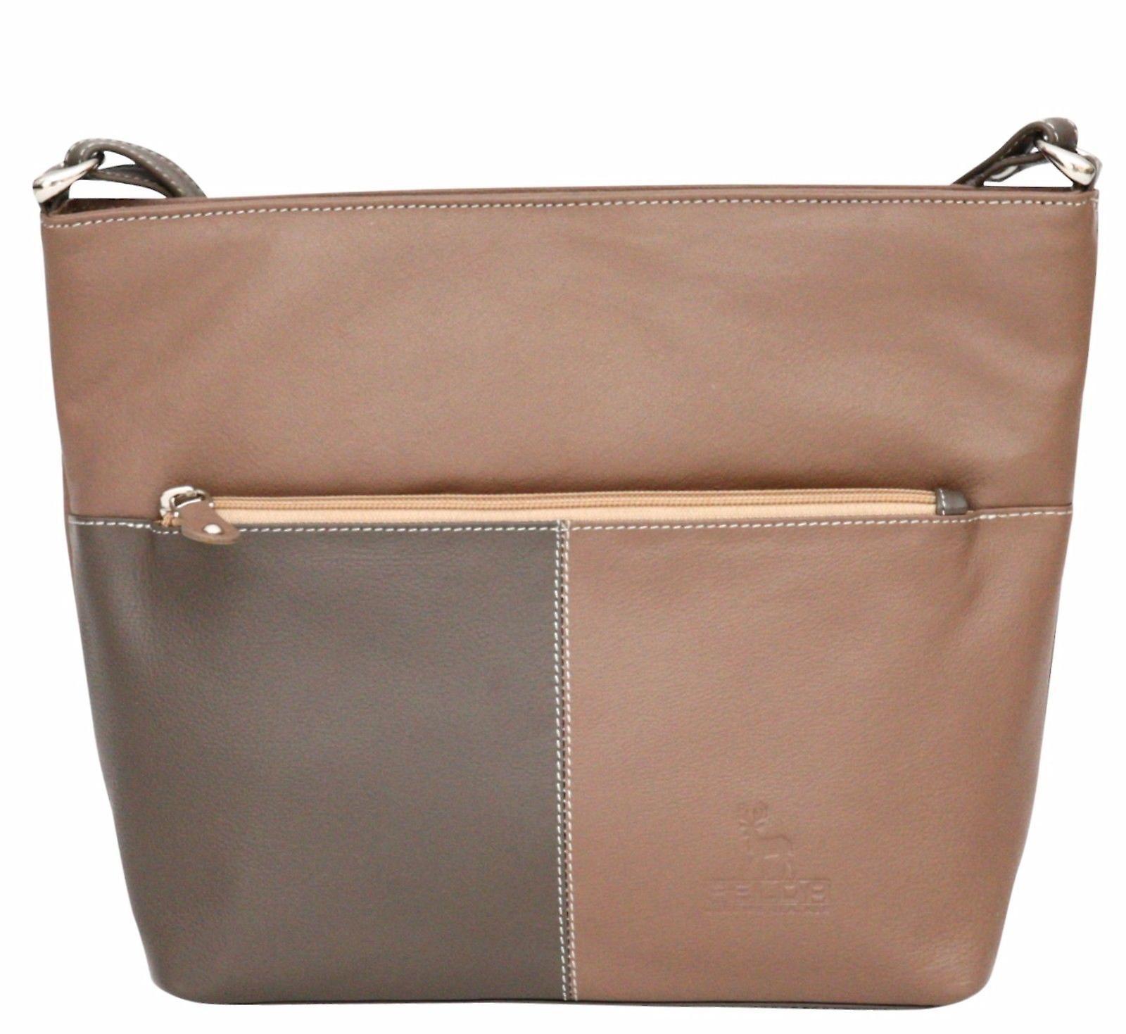 Luxury Genuine Real Leather Ladies Cross Body Handbag Tote Shoulder Shopper Bag