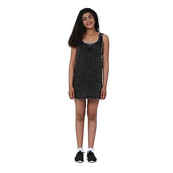 Schwarzem Denim Pinafore Alter 10-16 Jahre kurze Teen Mode Dress
