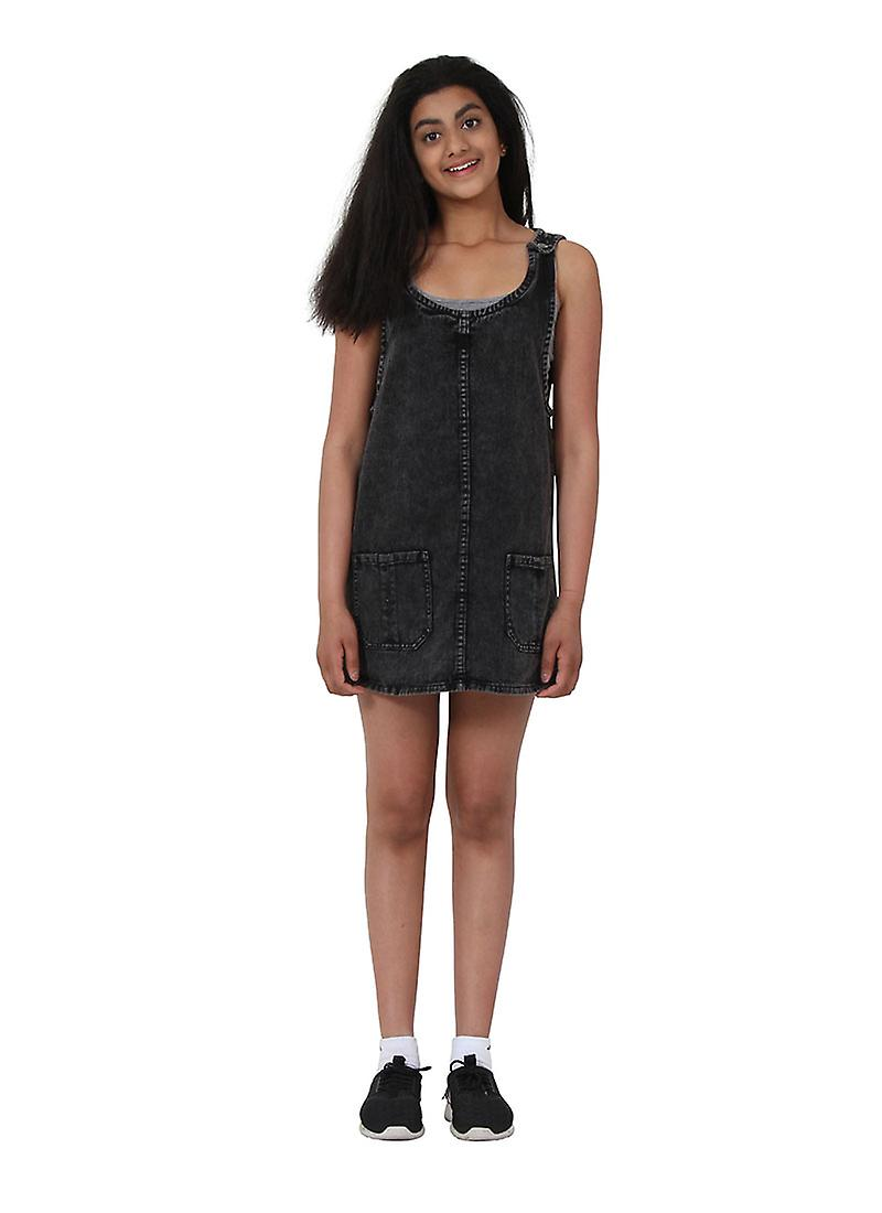 Black Denim Pinafore Age 10-16 Years Short Teen Fashion Dress