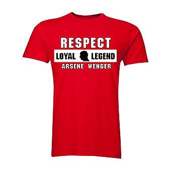 Arsene Wenger respekt T-Shirt (rød)