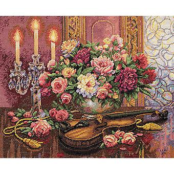 Gold Collection Romantic Floral Counted Cross Stitch Kit 16