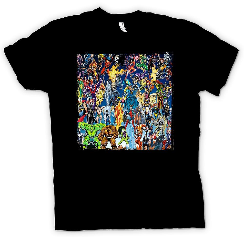 Womens T-shirt - Marvel Comic Super Hero - Collage