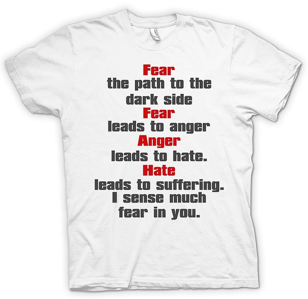 Womens T-shirt - Fear Is The Path To The Dark Side - Quote