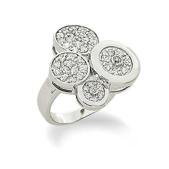Orphelia srebro 925 Ring 5 warstw utorować ZR-3542