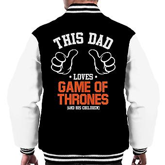 This Dad Loves Game Of Thrones And His Children Men's Varsity Jacket