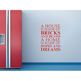 A house is made of Wall Art Sticker - Deep Red