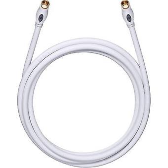 Antennas, SAT Cable [1x F plug - 1x F plug] 1.20 m 120 dB gold plated connectors White Oehlbach Transmission Plus S