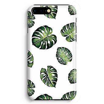 iPhone 8 Plus Full Print Case (Glossy) - Tropical leaves