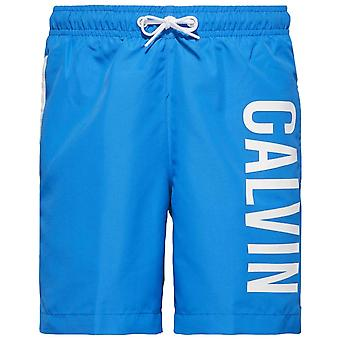 Calvin Klein Boys Intense Power Swim Shorts, Electric Blue Lemonade, Medium