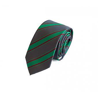 Tie cravate cravate cravate 6cm gris vert rouge rayé Fabio Farini