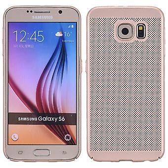Caja del teléfono celular de oro caso de Samsung Galaxy S6 manga bolso de la caja cubierta