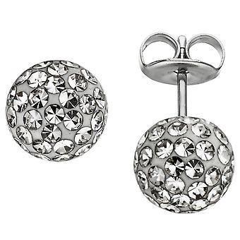 Stainless steel ear studs ball stainless steel crystal element ball earrings