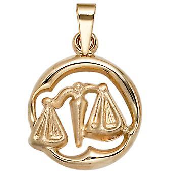 Zodiac trailer Libra zodiac sign Libra 375 partially frosted gold yellow gold