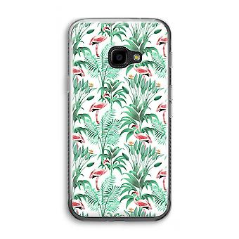 Samsung Galaxy XCover 4 Transparent Case (Soft) - Flamingo leaves