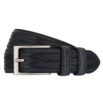 OTTO KERN belts men's belts leather belt blue 7491
