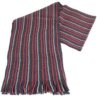 Bassin and Brown Banks Striped Cashmere Scarf - Red/Grey