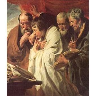 الإنجيليين الأربعة، جاكوب يوردانس، 60x50cm