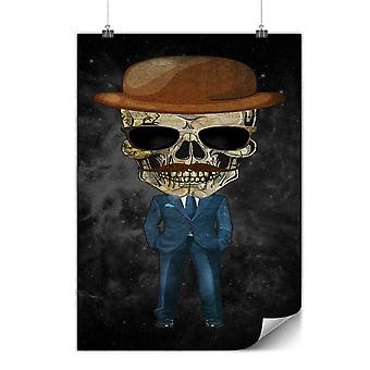 Matte or Glossy Poster with Dead Skeleton Suit | Wellcoda | *y971
