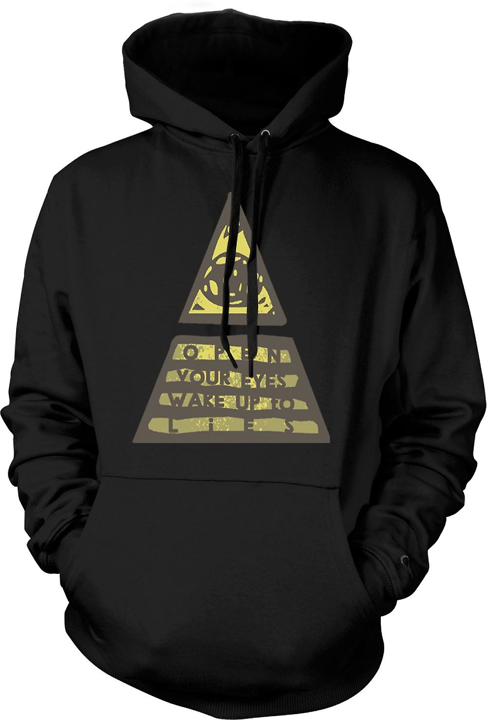 Kids Hoodie - Illuminati Wake Up To The Lies