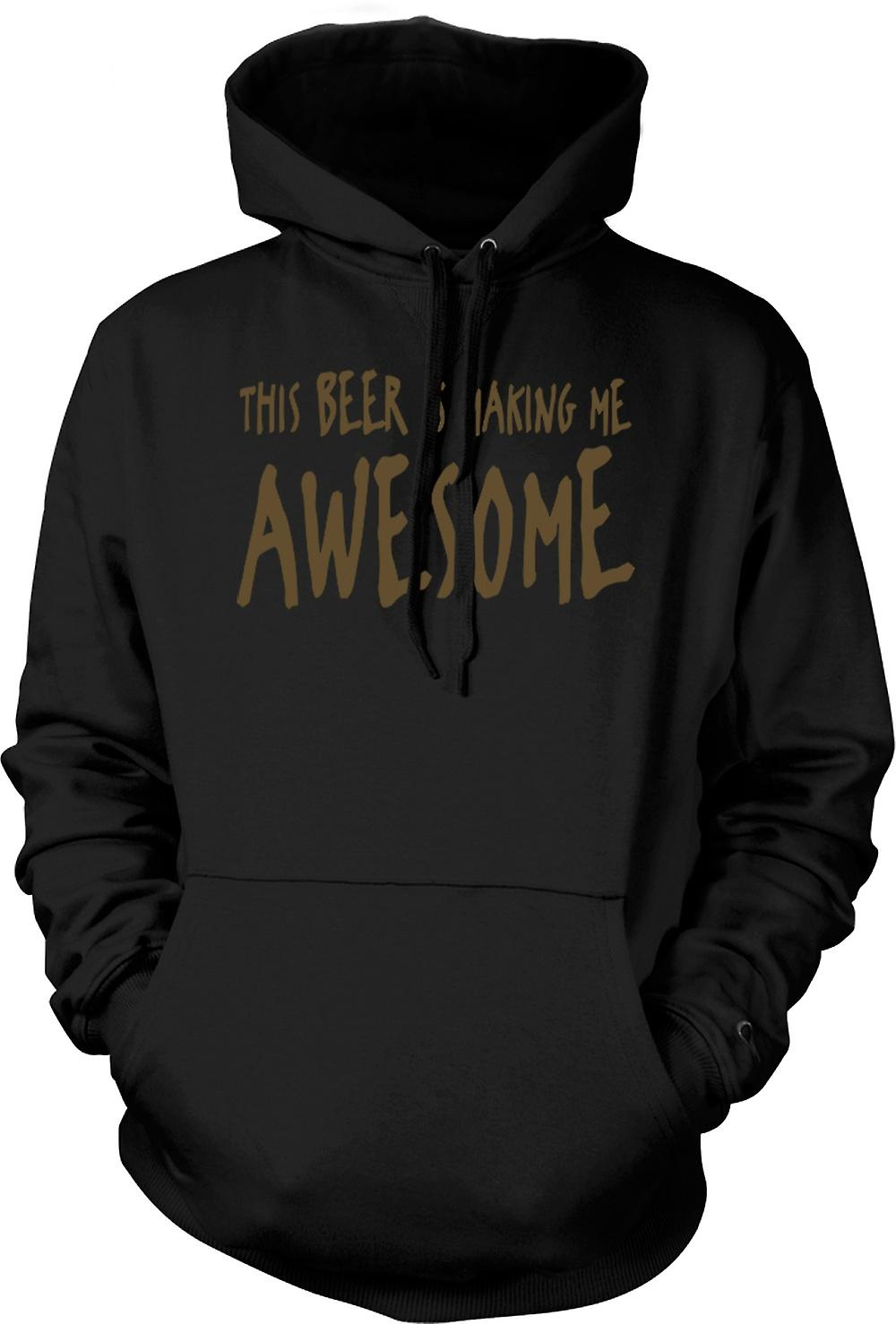 Mens Hoodie - This Beer Is Making Me Awesome - Quote