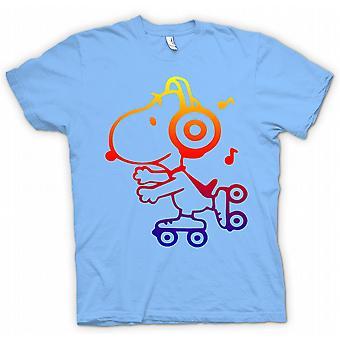 Kids t-skjorte-Snoopy på rulleskøyter