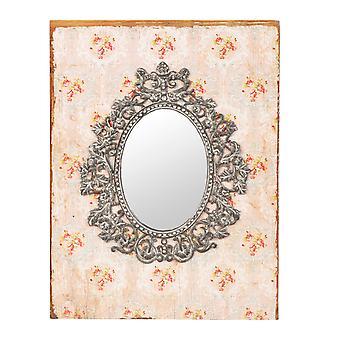 Clayre & EEF 虚栄心ミラー木製ガラスみすぼらしいコテージ ロマンス約 23 x 2 x 30 cm