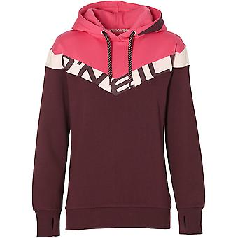 ONeill Red Aop-Pink-Purple Colour Block Oth Womens Hoody