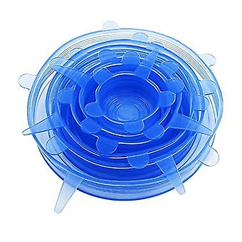 Silicone lid in 6 different sizes-keeps food fresh longer
