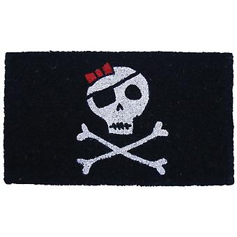 Wellindal Doormat black skull with bow (Decoration , Carpets)